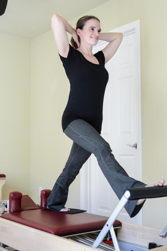 Front Splits with Balance, Pilates reformer exercise, Classical Pilates Las Vegas